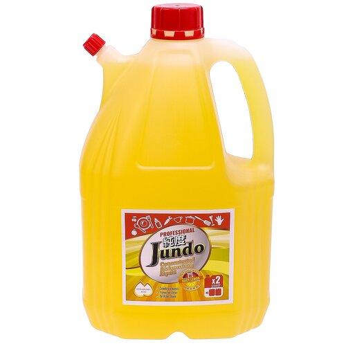 Jundo средство для мытья посуды и детских принадлежностей с гиалуроновой кислотой Juicy Lemon, 4 л гель для мытья посуды и детских принадлежностей jundo sakura с гиалуроновой кислотой концентрат 1 л