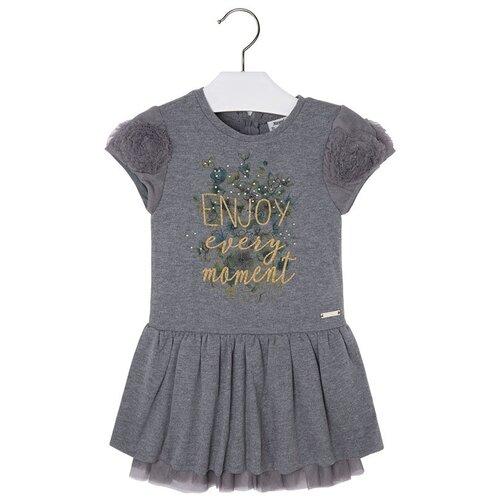 Купить Платье Mayoral размер 8(128), темно-серый, Платья и сарафаны