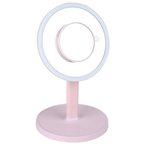 Зеркало косметическое настольное Gezatone LM208 с подсветкой розовый