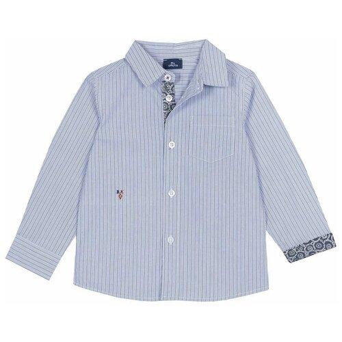 Фото - Рубашка Chicco размер 116, голубой рубашка fendi размер 116 кремовый