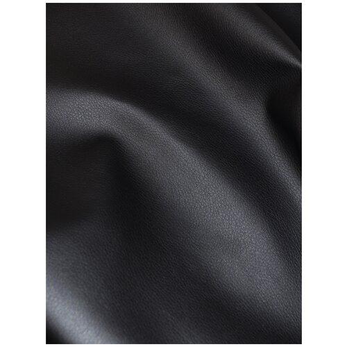 Экокожа автомобильная, искусственная кожа, гладкая - 140х200 см, цвет: черный