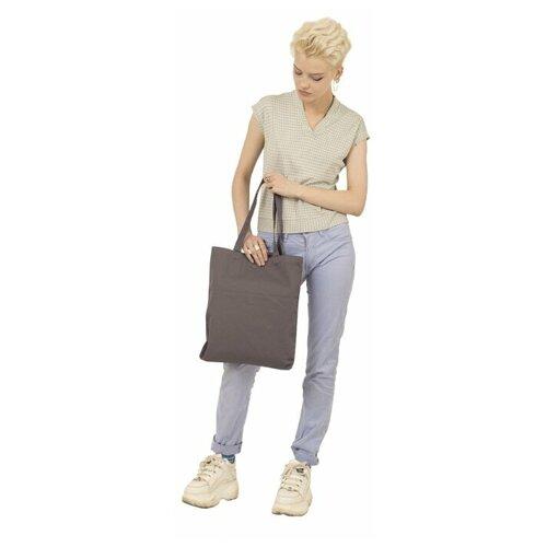 Сумка-шоппер eco.hizmat Ecoshopper серый 100% хлопок