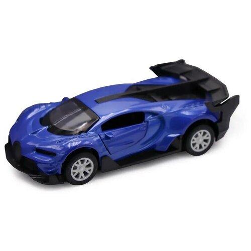 Машинка Funky Toys Die-cast, Бугатти, инерционная, открываются двери, синяя, M 1:32 (FT61304)