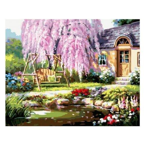 Купить Картина по номерам Paintboy «Сакура» (холст на подрамнике, 40х50 см), Картины по номерам и контурам