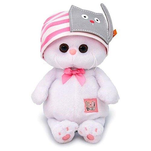 Мягкая игрушка «Ли-Ли BABY» в шапочке с кошечкой, 20 см