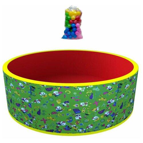 Сухой бассейн «Веселая поляна» ROMANA ДМФ-МК-02.51.03 (зеленый/красный + 100 шаров)