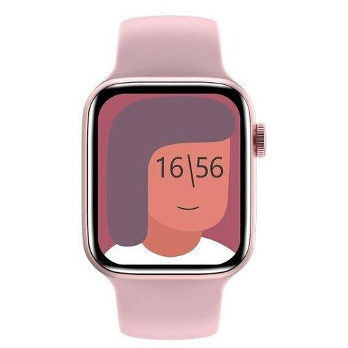 Умные часы IWO HW22 PRO MAX Series 6, розовые