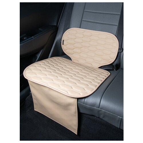 Чехлы (накидки) под бустеры. Защита сидений авто. Цвет: бежевый. 1 шт. Соло