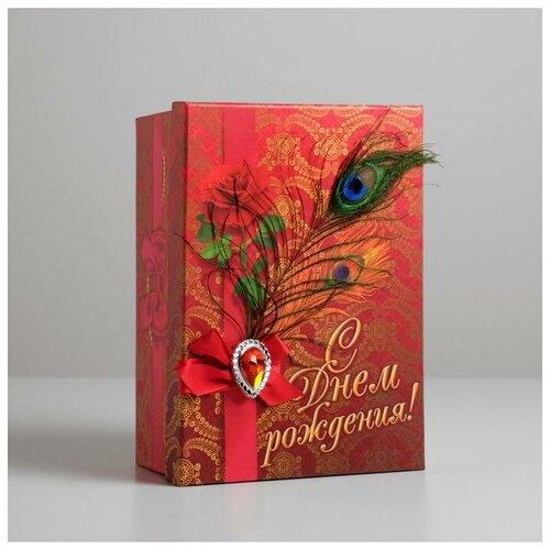 Фото - Подарочная коробка «С Днём рождения, богема», 5 × 15.8 × 22 см 753795 подарочная коробка дарите счастье 3122698 складная коробка с днем рождения