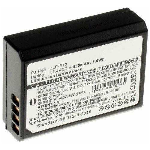 Фото - Аккумулятор iBatt iB-U1-F130 950mAh для Canon EOS 1100D (Kiss X50) аккумулятор ibatt ib u1 f428 1180mah для gopro hd hero3 hd hero3