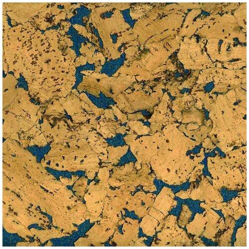 Пробковое настенное покрытие в пластинах Easycork, Кориа азул, 600х300х3мм, 1,98 кв.м.