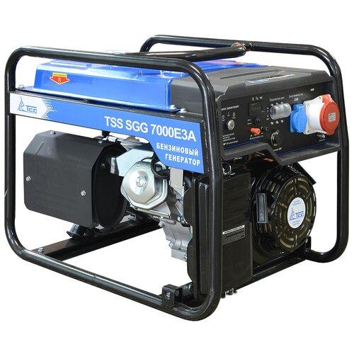 Бензиновый генератор ТСС SGG 7000E3A (7000 Вт) инверторный бензиновый генератор тсс ggw 5 0 200ed r 22957 сварочный 98кг бензин 5квт 220 12в