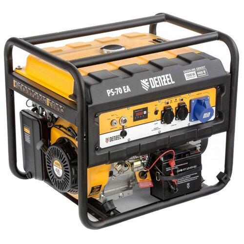 Бензиновый генератор Denzel PS 70 EA (6000 Вт)