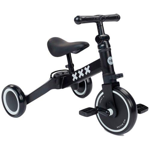 Фото - Беговел-велосипед Happy Baby Adventure, черный беговел happy baby vester 50027_sage