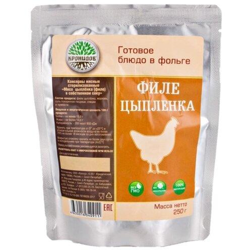 Кронидов Готовое блюдо Филе цыпленка в собственном соку, 250 г