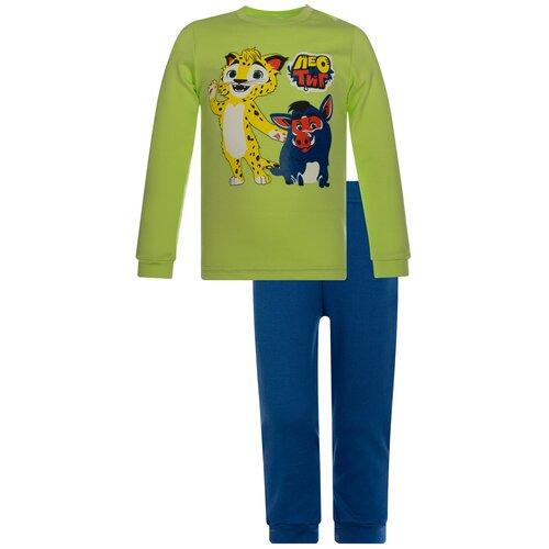 Фото - Комплект одежды Утенок размер 80, салат/индиго Лео и Куба комплект одежды утенок размер 98 белый черный