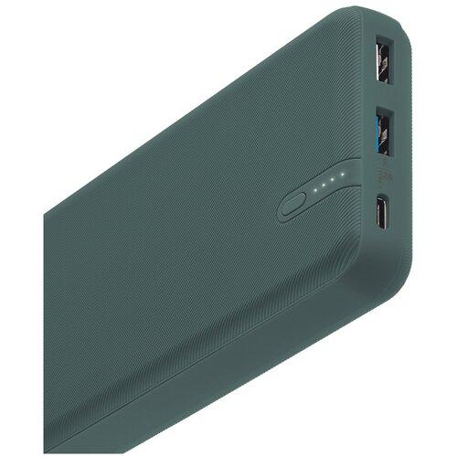 Внешний аккумулятор INTERSTEP PB2060PD 20000мАч QC4+PD 45Вт+18Вт зеленый