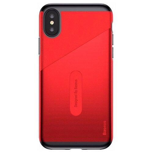 Фото - Чехол-накладка Baseus Card Pocket Case для Apple iPhone X red чехол накладка baseus thin case для apple iphone x black