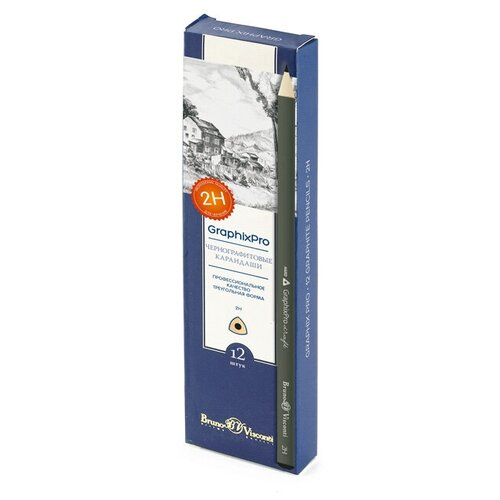 Купить Карандаш чернографитовый GraphixPro 3B, 12 штук, Bruno Visconti, Карандаши