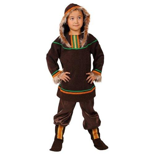Костюм Маскарад у Алисы Чукча мальчик (202248), коричневый, размер 32 (128) костюм маскарад у алисы восточный принц коричневый размер 32 128