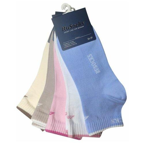 Комплект спортивных женских носков разных цветов, 5 пар, р-р 36-39