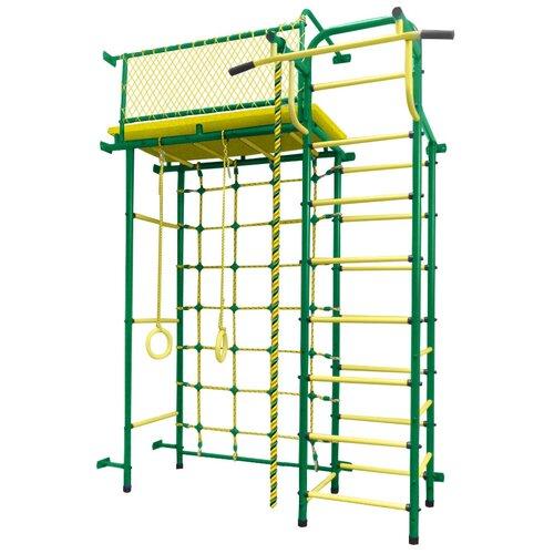 Купить Спортивно-игровой комплекс Пионер 10С, зеленый/желтый, Игровые и спортивные комплексы и горки