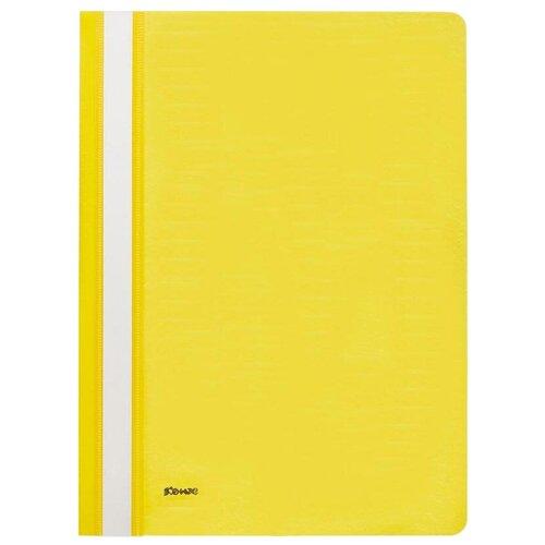 Комус Папка-скоросшиватель А4, пластик желтый