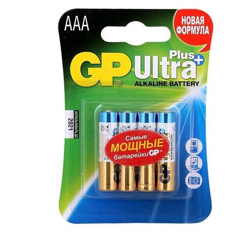 Фото - Батарейка GP Ultra Plus Alkaline AAA, 4 шт. батарейка energizer max plus aa 4 шт