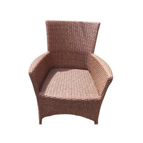 Кресло Кипр, плетеное из искусственного ротанга зебрано