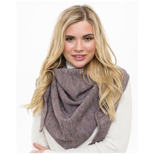 Женский теплый шарф-платок из шерсти, ТМ Reflexmaniya, цвет - розовато-серый.