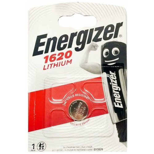 Фото - Батарейка Energizer CR1620 1 шт батарейка energizer max plus aa 4 шт