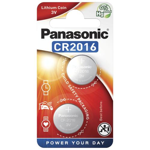 Литиевые дисковые батарейки Panasonic CR-2016EL-2B