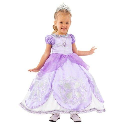Фото - Костюм пуговка Принцесса Софи (2092 к-20), фиолетовый, размер 128 костюм пуговка кузнечик 2080 к 20 зеленый размер 128