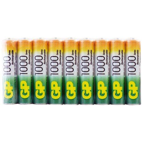 Фото - Аккумулятор Ni-Mh 950 мА·ч GP Rechargeable 1000 Series AAA, 18 шт. аккумулятор ni mh 950 ма·ч gp rechargeable 1000 series aaa 6 шт