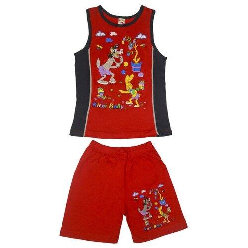 комплект одежды playtoday размер 92 красный белый темно синий Комплект одежды Kirpi размер 128, красный/темно-синий