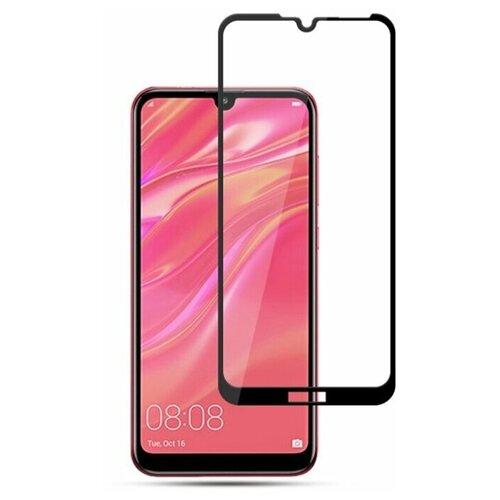 Полноэкранное защитное стекло для Huawei Y7 2019, Y7 Prime 2019, Enjoy 9, Y7 Pro 2019 Full Glue Full Screen / Защитное стекло для Хуавей Y7 2019г., Y7 Прайм 2019г., Энджой 9, Y7 Pro 2019г. / 3D Полная проклейка экрана (Черный)