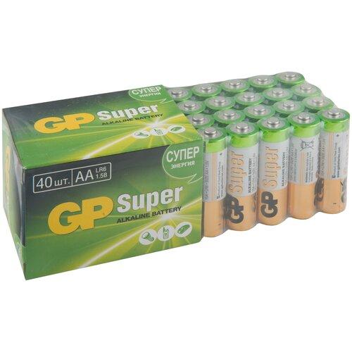 Фото - Батарейка GP Super Alkaline AA, 40 шт. батарейка energizer max plus aa 4 шт
