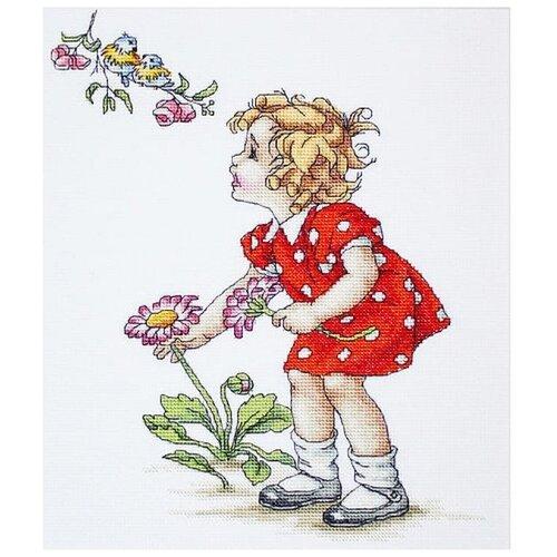 Набор для вышивания «Девочка в красном платье», 19,5x24 см, Luca-S