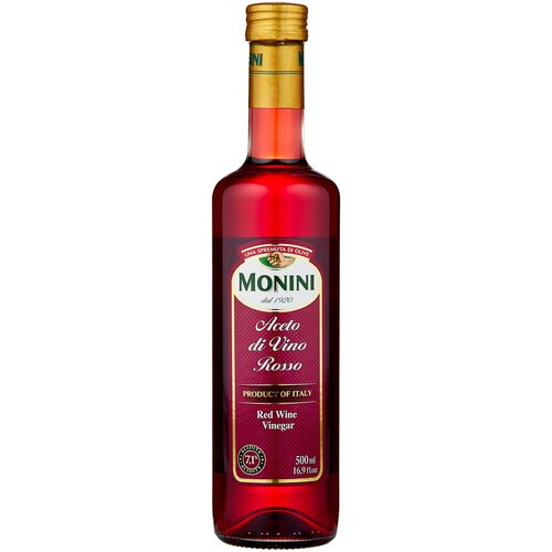 Фото - Уксус Monini винный красный, 500 мл уксус chatel винный с ароматом малины 6% 500 мл