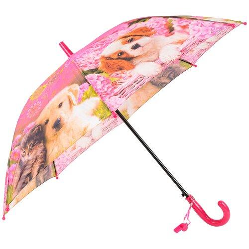 Зонт-трость полуавтомат детский Rain Lucky 920-2 LACN со свистком