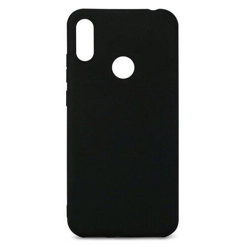 Матовый чехол для Samsung Galaxy A30 / Силиконовый чехол на Самсунг Галакси А30 (Черный)
