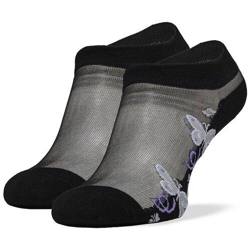 Укороченные женские носки с прозрачной вставкой