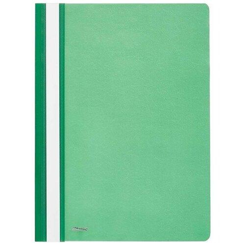 Комус Папка-скоросшиватель А4, пластик зеленый