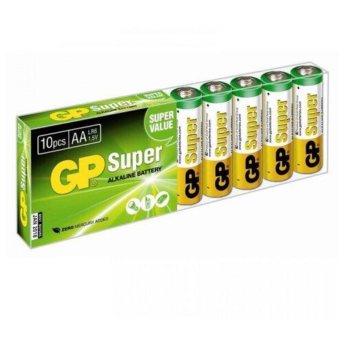 Фото - Батарейка GP Super Alkaline AA, 10 шт. батарейка energizer max plus aa 4 шт
