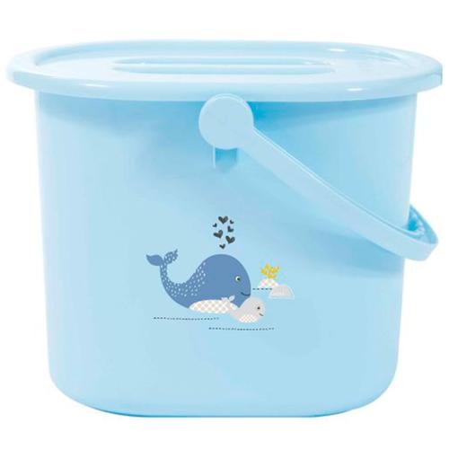 Купить Bebe Jou ведро для наполнения, слива ванночки и использованных подгузников голубой Китенок, Bebe-Jou, Сиденья, подставки, горки