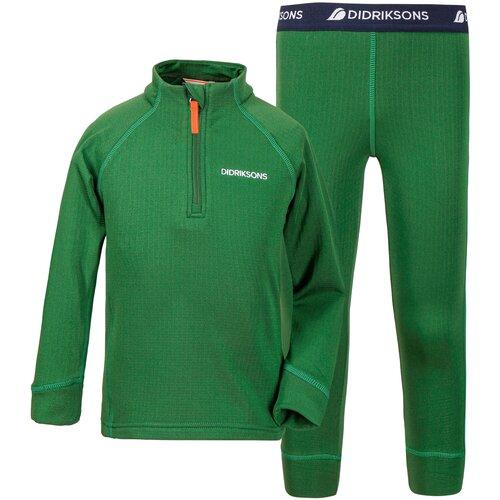 Комплект термобелья Didriksons Jadis 503415, размер 90, 423 зеленый лист
