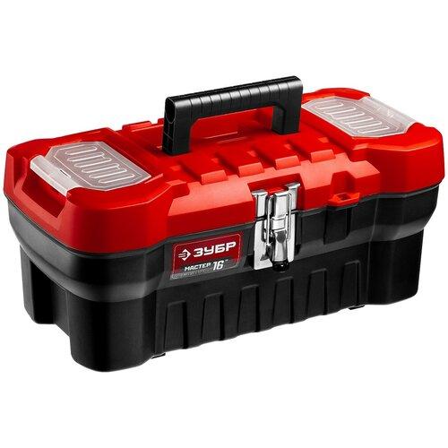 Ящик с органайзером ЗУБР Мастер-16 (38180-16) 41x21x17.5 см 16'' черный/красный