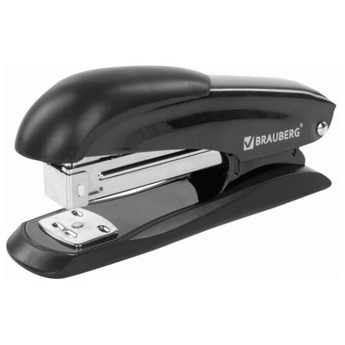 Купить BRAUBERG Степлер Office Expert для скоб №24/6 и 26/6 черный, Степлеры, скобы, антистеплеры