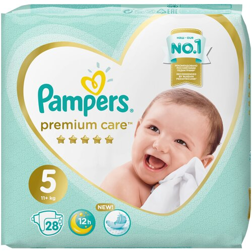 Pampers подгузники Premium Care 5 (11+ кг), 28 шт.