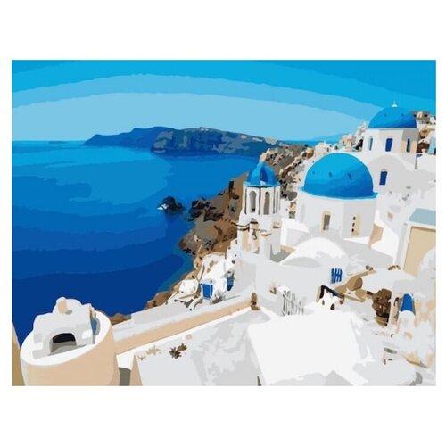 Купить Цветной Картина по номерам Санторини 40х50 см (MG517), Картины по номерам и контурам
